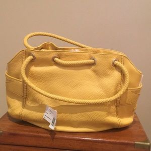 Yellow Leather Cole Haan Denney Bag - never used